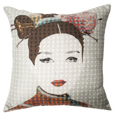 CUSHION SILK GEISHA CELADON