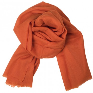 SHAWL CASHMERE ORANGE
