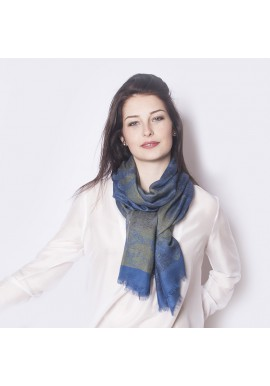 BLUE CASHMERE SCARF CANOPEE